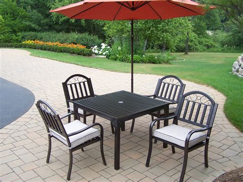 6 Pc Patio Set by Oakland Living 6 Pc Patio Dining Set W 40x40 Quot Table