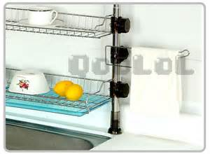 qoolol diy stainless steel metal the sink shelf