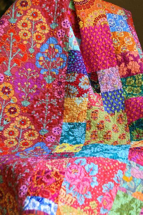 How To Make Handmade Quilts - kaffe fassett handmade reversible throw quilt
