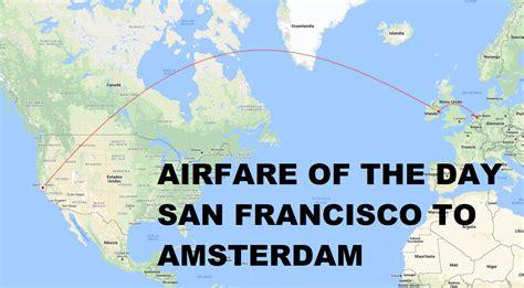 airfare   day british airways san francisco  amsterdam economy class   trip