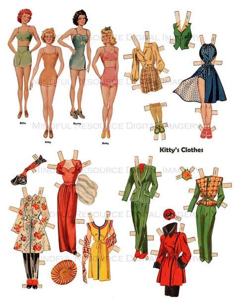 printable vintage paper dolls 1940s vintage paper dolls nostalgia wwii era whitman paper