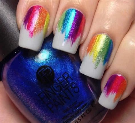 In A Nail Polishing Rut by 6 Rainbow Manicures To Get You Out Of Your Fall Nail Rut