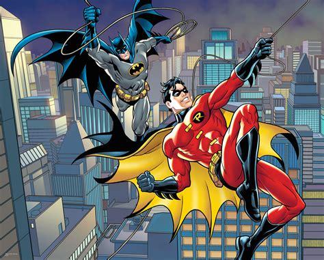 dc 6 swing dc comics batman and robin rope swing wall mural batman