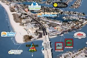 map of johns pass florida south madeira s pass fl aerial view