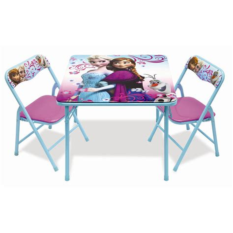 2 activity table disney frozen activity table and 2 chair set ebay