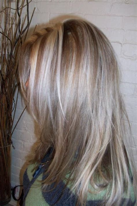 grey hair highlights and lowlights platinum highlights dark blonde highlights and lowlights