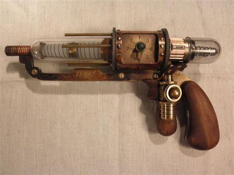 steunk tesla pistol laser guns