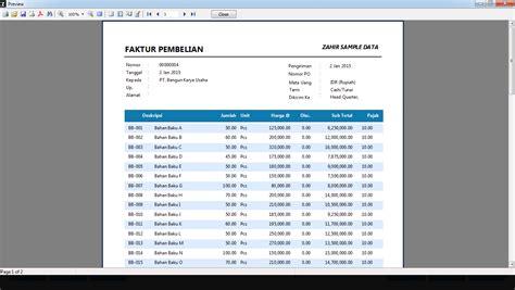 cara membuat laporan invoice memperbesar jarak baris pada faktur dan laporan pt zahir