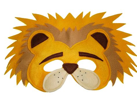 printable animal eye masks children s safari animal lion felt mask