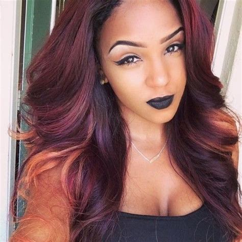 black women with purple colour in their hair i loveeee this color makeup pinterest this weekend