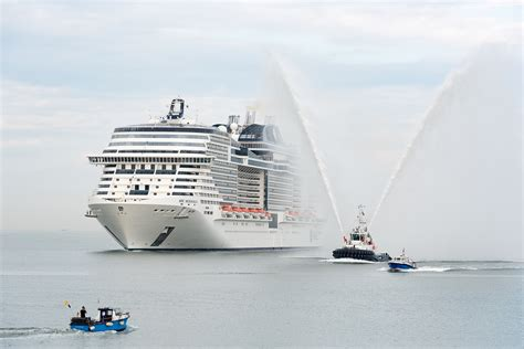 largest cruise ship being built intravelreport msc cruises christens the ship to be built by a european ship owner