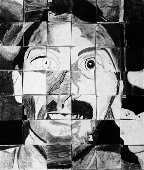 Monochromatic Self Portrait Template Distorted Self Portraits Mr Mccormick