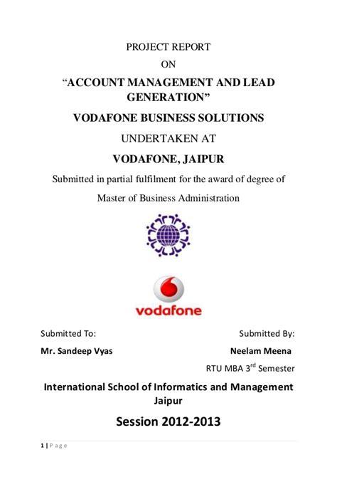 Mba Project Report On Lead Generation ravi rupani