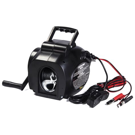 boat winch ebay au i max 12v 3500lbs portable detachable electric cable boat