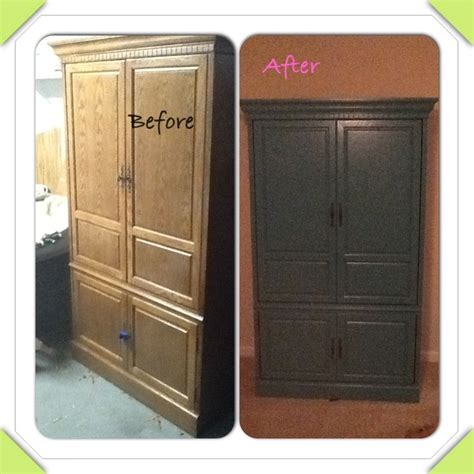 refinished armoire refinished tv armoire stuff i made 0 pinterest