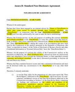 business plan non disclosure agreement template business plan non disclosure agreement exle