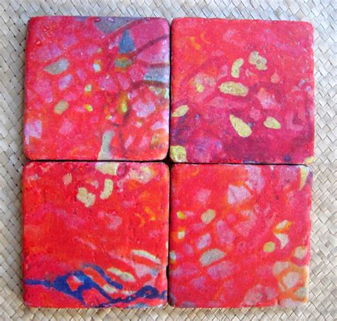 Handmade Tile Coasters - custom made tile coasters handmade tile with multi colored