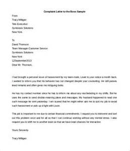 Complaint Letter Workplace Bullying Template Workplace Bullying Complaint Letter Sle Cover Letter Sle 2017
