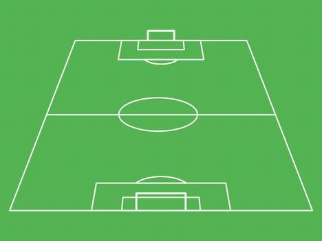 3d soccer pitch powerpoint template football pitch template
