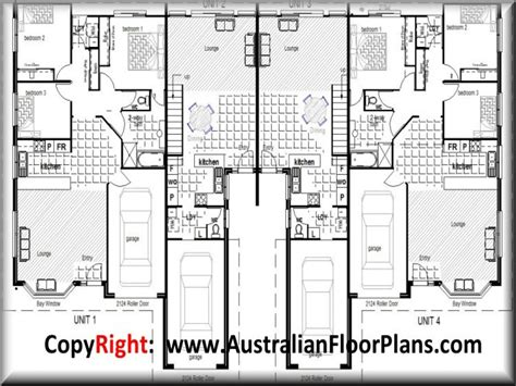 Contemporary Townhouse Plans by Duplex Townhouse Floor Plans Modern Duplex Plans
