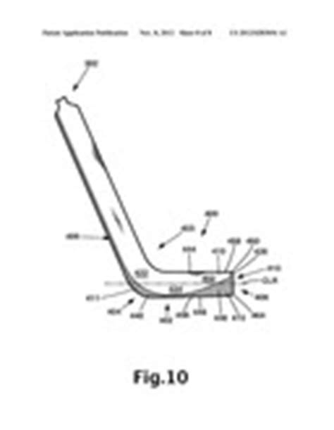 diagram of hockey stick blade of for a hockey stick patent application