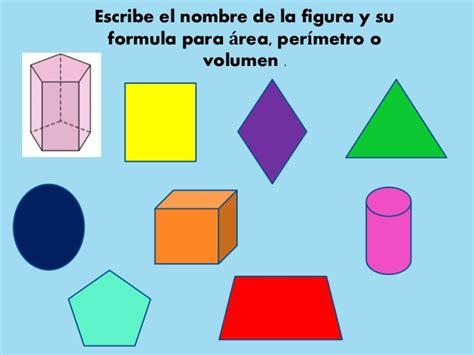 figuras geometricas con nombres y caracteristicas areas y volumenes de las principales figuras geometricas
