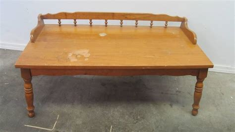 Solid Wood Coffee Table Canada Vintage Solid Wood Coffee Table Canada Quality Antiques Collectibles Estate Auction
