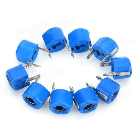 poly variable capacitor 5pf 6mm plastic variable capacitors blue 10 pcs free shipping dealextreme