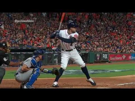 the perfect baseball swing in slow motion george springer baseball swing slow motion home run baseball