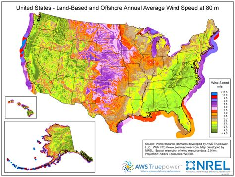 texas wind farm map annual average wind speed at 80m usa 2200 215 1700 mapporn