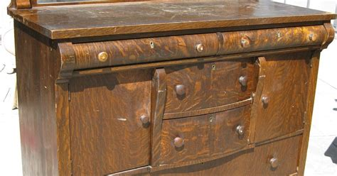Tiger Oak Furniture by Uhuru Furniture Collectibles Sold Tiger Oak Buffet 160
