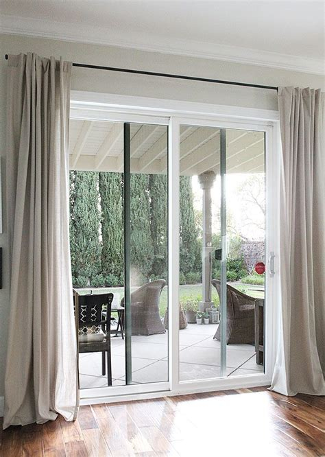 image result for sliding door curtains decorating