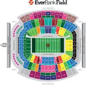 Jacksonville Jaguar Seating Chart Seating Map
