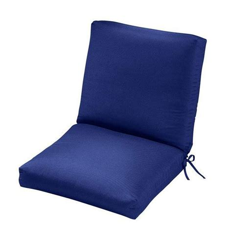 Blue Patio Chair Cushions Home Decorators Collection Sunbrella Blue Outdoor Dining Chair Cushion 1573120310 The Home Depot