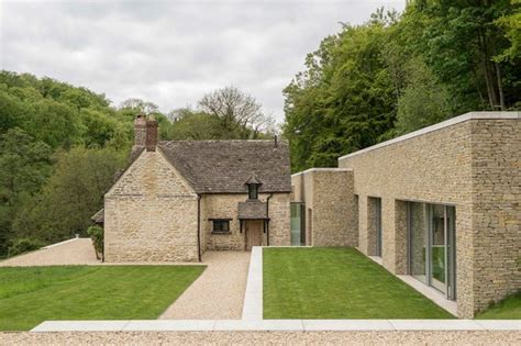 stones wall modern cottage house plans modern house plan private house cotswolds farmhouse exterior london