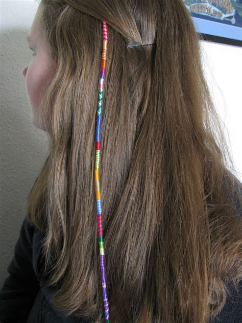hair wrapping pictures hippie chick hair wrap colorful removable by downhomepurl