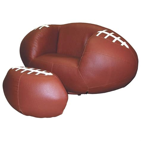 soccer chair and ottoman set polaris 174 football chair and ottoman set 163716 kid s