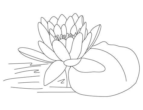 printable lotus coloring pages  kids