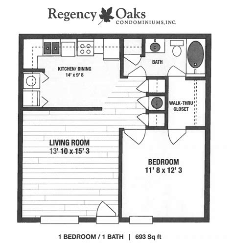1 bed 1 bath condo floor plan student apartments