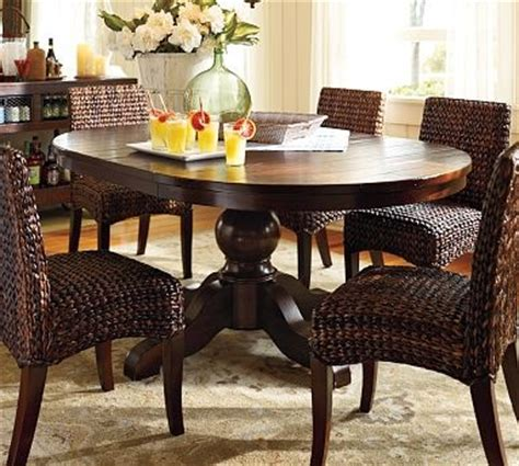 pottery barn kitchen table with bench 17 best images about round pedestal dining tables on pinterest