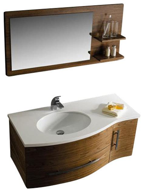 44 inch bathroom vanity vigo vg09005108lhk 44 inch vanity w mirror traditional