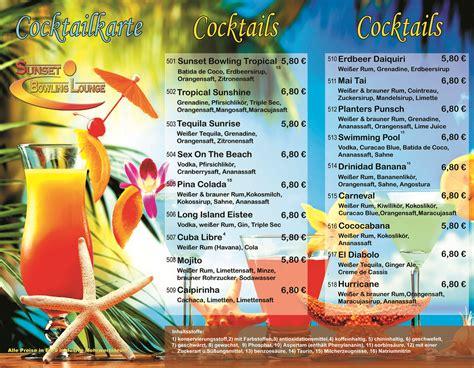 Word Vorlage Cocktailkarte atemberaubend cocktailkarte vorlage zeitgen 246 ssisch entry