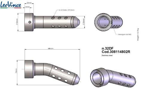 Motorrad Auspuff 52mm by Db Killer Eater Leovince Original No 32df Au 223 Endurchmesser