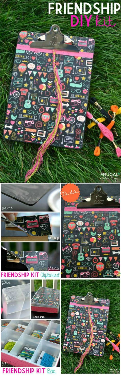 pininterest frugal friendship diy friendship kit tutorial clipboard box and bracelet