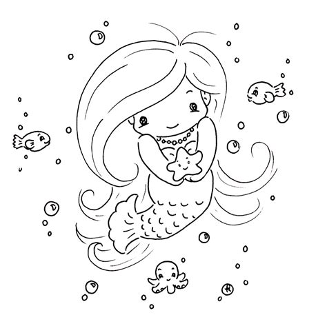 coloring page baby mermaid sliekje digi sts winners request candy digis