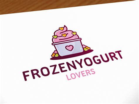 frozen yogurt logo template  alberto bernabe dribbble