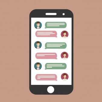 chat mobile mobile chat user interface with avatar psd file free