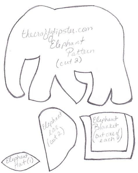 free pattern felt elephant felt elephant pattern the crafty tipster