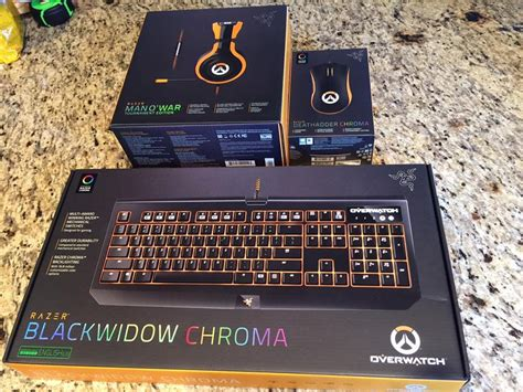 Razer Blackwidow Chroma Overwatch Edition Keyboard Gaming 2 overwatch razer blackwidow chroma mercy using abilities