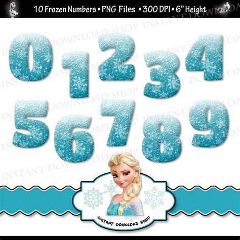 frozen film number 2 instant download frozen numbers frozen digital clipart